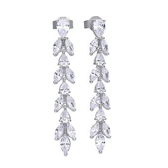 Diamonfire Cubic Zirconia Vine Design Drop Earrings E5783