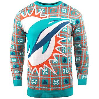 NFL Ugly Sweater XMAS Knit Sweater - Miami Dolphins