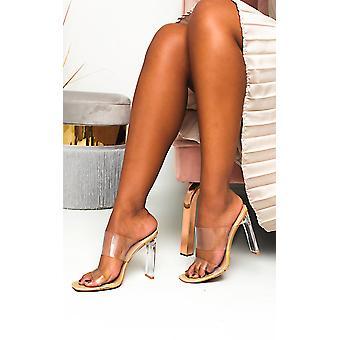 IKRUSH Womens Kirti Perspex Mule Heels