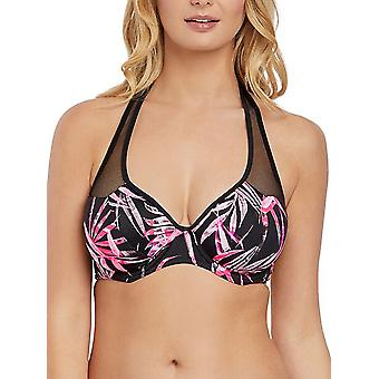 Sunset Palm Halterneck Bikini Top