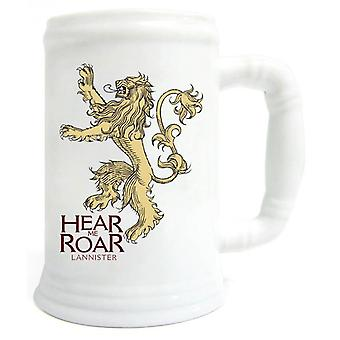 Game of Thrones Ceramic Stein Hear Me Roar Lannister