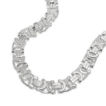 Bracelet 6x2mm King chain plat 925 argent 19 cm