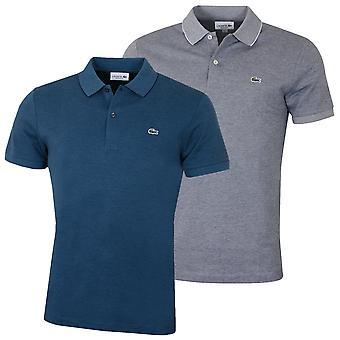 Lacoste Herren gerippten Kragen Polo Shirt