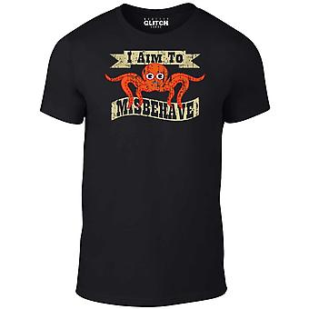 Men's i aim to misbehave t-shirt.