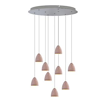 Tetrra 9 Mini Pendant Lighting Concrete