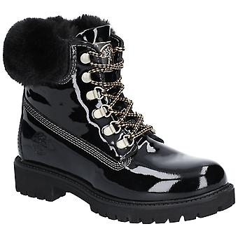 Darkwood Womens Larch Lace Up Boot Black Patent