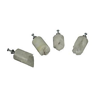 白色石英水晶芯抽屉手柄柜拉家具装饰套装 4