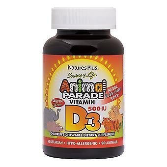 Nature's Plus Animal Parade Vitamin D3 500iu Chewables 90 (29950)