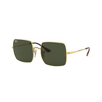 Ray-Ban Square RB1971 914731 guld/grön solglasögon