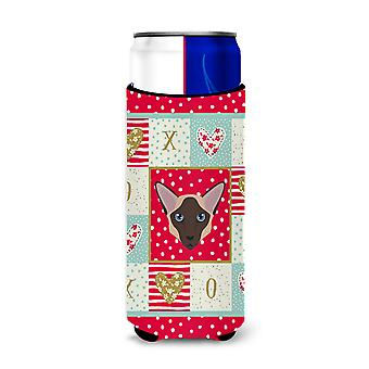 Colorpoint Longhair Cat Michelob Ultra Hugger for slim cans