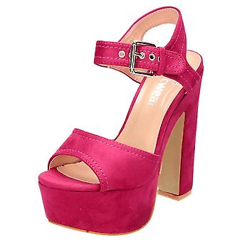 Koi Footwear High Block Heel Platform Slingback Peep Toe Shoes Sandals