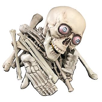 Rotting Skull Skeletons Bag of Bones Day of The Dead Halloween Party Decoration