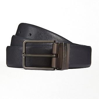 Emporio Armani Jeans Czarny odwracalny pasek klamrowy Y4S202 YLP4J