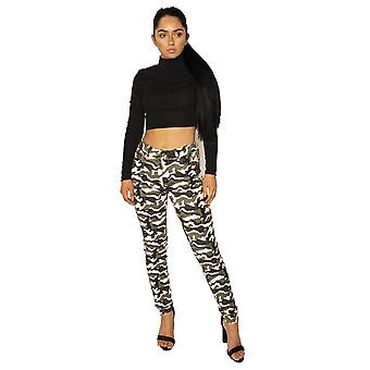 Slim Camouflage Fitted Trousers