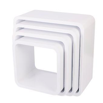 Sebra-unitati de depozitare-set pătrat 4-mat alb