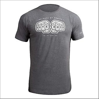 Hayabusa weapons of choice t-shirt - grey - size small