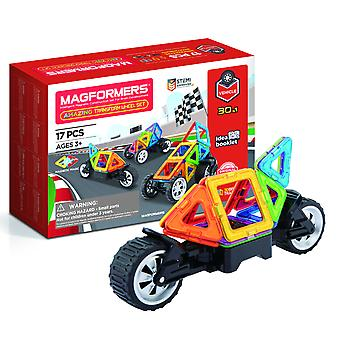 Magformers Amazing Transform Wheel Set 17PC Magnetic Construction Toy Ages 3