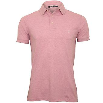 Fransk Connection Classic Jersey Polo Shirt, Pink Melange