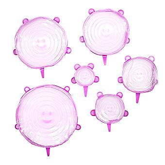 6x Cappuccio in silicone rosa