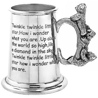 Twinkle Twinkle Cup peltro di stella poco orsacchiotto maniglia bambino