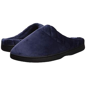 Dearfoams Women's Microfiber Velour Clog with Quilted Cuff Wide Width Slipper,