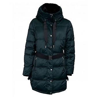 Rino & Pelle Belted Fur Collar Midi Coat