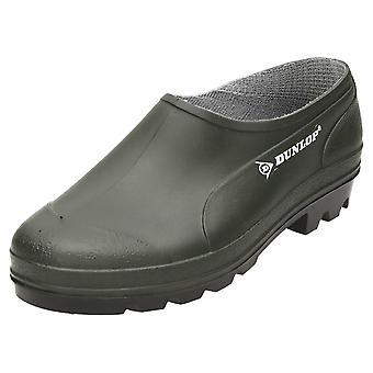Dunlop Dark Green Welliington Gardening Clogs Unisex Ankle Boots