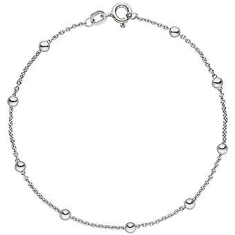 Лодыжка Лодыжка с шариками 925 стерлингового серебра 25 см Серебряная цепочка