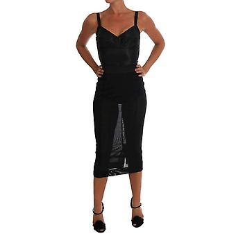 Dolce & Gabbana Black Stretch Romper Body -- TSH1524144