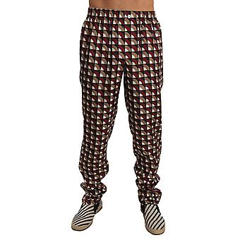Dolce & Gabbana Lounge Burdeos Pantalones de seda beige - PAN6756528