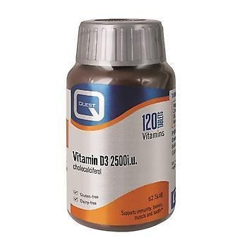Quest Vitamins Vitamin D3 2500iu Tabs 120 (601027)