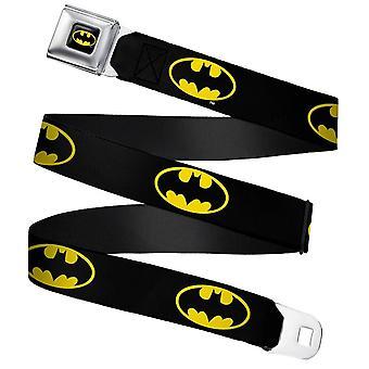 DC Comics Batman Classic Logo Webbing Seatbelt Buckle Belt