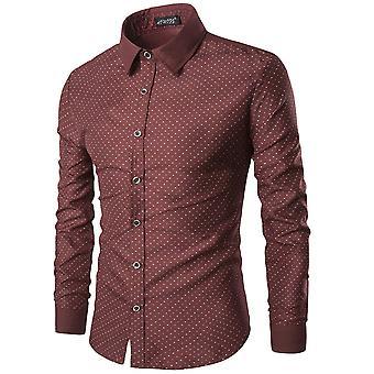 Allthemen Miesten pitkähihainen paita puuvilla Spot rento paita