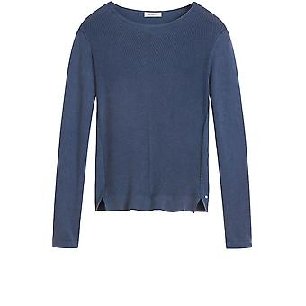 Sandwich Clothing Blue Ribbed Knit Jumper