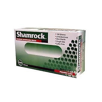 Shamrock vinyl släta handskar, pulver gratis, stora, 100 ea