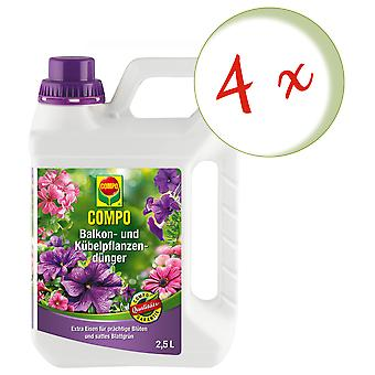 Sparset: 4 x COMPO balcony and potted plant fertilizer, 2.5 litres