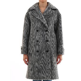 Kenzo F962ma0245j396 Women's Grey Wool Coat