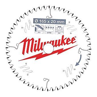 Milwaukee 4932471296 165mm 52T Aluminium Cutting Circular Saw Blade