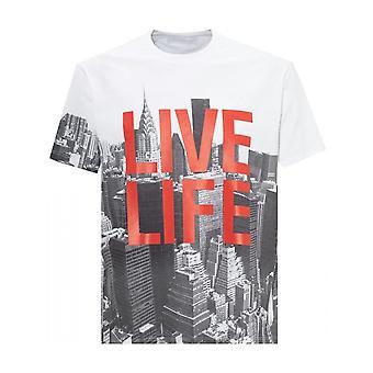 Neil Barrett Live Life T-shirt