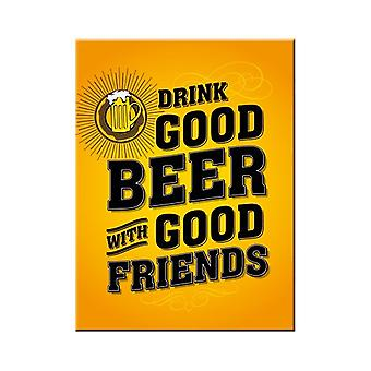Drink Good Beer Nostalgic Metal Magnet - Cracker Filler Gift