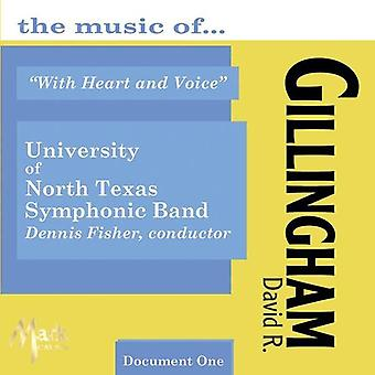 University of North Texas Symphonic Band - With Heart & Voice: The Music of David R. Gillingham [CD] USA import
