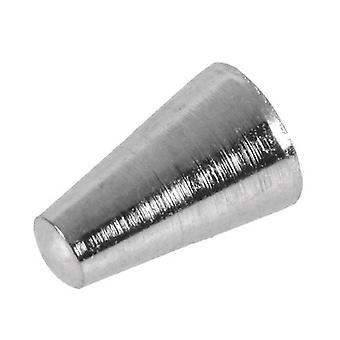 Beadalon Memory Wire Cone End Cap Silver Plated 6.5mm 6 Pieces