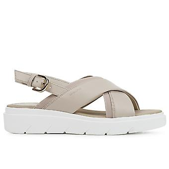 Geox d tamas sandaler kvinnors beige