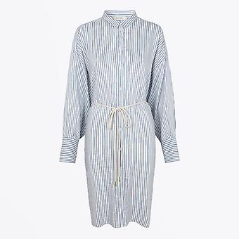 Munthe  - Striped Shirt-Dress - Blue/White