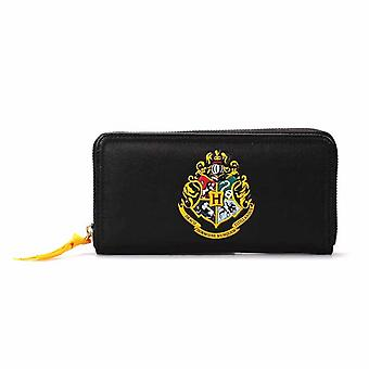Harry Potter Purse Hogwarts Crest Logo new Official Black zip around