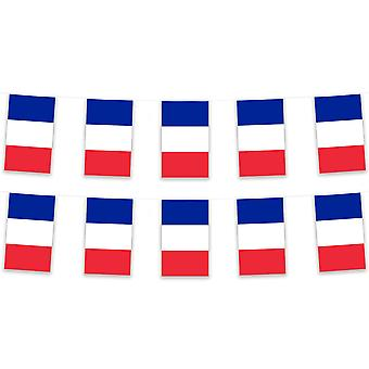 Pack of 3 France Bunting 15m French Polyester Fabric Country National