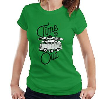 Volkswagen Time To Get Out Type 2 Camper Women's T-Shirt