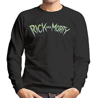 Rick og Morty grøn logo mænd ' s sweatshirt