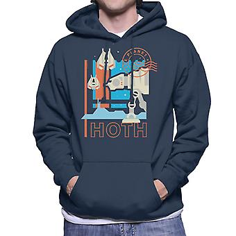 Star Wars Ice Planet Hoth homens ' s camisola com capuz