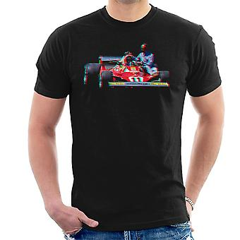 Motorsport Images Niki Lauda 312T2 Mechanic Lift Men-apos;s T-Shirt